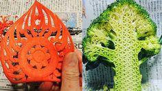 Frutas y vegetales tallados por Gaku