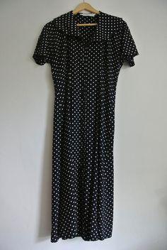 Beautiful spotted 'kick' skirt vintage dress by 365daysofvintage, £25.00