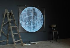 Very Large Moon Chart signed by AGC916 on Etsy, $875.00