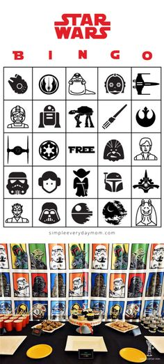 Looking for some easy DIY ideas to throw a Star Wars party for kids? Check out all our great ideas and printables including invitations, Star Wars bingo, food label cards and more! Star Wars Birthday, Star Wars Party, Girl Birthday, Birthday Desserts, Birthday Party Themes, Epic Party, Star Wars Kids, Bingo Cards, Food Labels