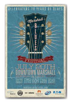 2013 Marshall Blues Festival by Hunter Langston, via Behance