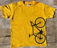 Bicicleta vertical t-shirt  camiseta Ciclismo  bicicleta