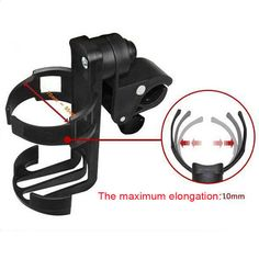 Black 1pc Bike Cup Stroller Bottle Holders Universal Drink Holder for Baby Stroller Pushchair Bicycle 04 Style