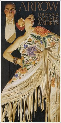 """Arrow """"The Spanish Shawl""""   by JC Leyendecker"""
