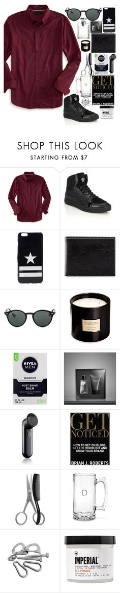 """the thrill is gone"" by ayeitzsarah on Polyvore featuring Aéropostale, Versace, Givenchy, Neiman Marcus, Ray-Ban, Burberry, Bulgari, Nivea, Abercrombie & Fitch and Clinique"