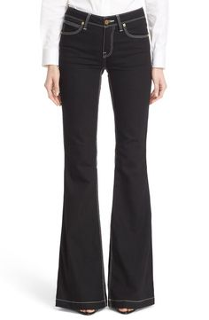 And.. The pant :: Burberry Burberry Flare Stretch Denim Jeans