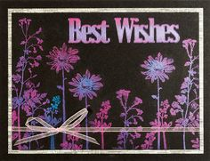 Best Wishes Shadow Floral Card