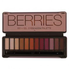 BYS Berries Eyeshadow Palette features an array of 12 expertly chosen, highly pigmented matte & metallic eyeshadows. The 12 piece palette comes housed in a modern, embossed tin, featuring a mirror and 2 dual end applicators. Fall Eyeshadow Palette, Drugstore Eyeshadow Palette, Eyeshadow For Blue Eyes, Eyeshadow Basics, Peach Eyeshadow, Natural Eyeshadow, Makeup Dupes, Makeup Palette, Eyeshadow Makeup