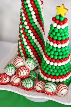 festive gumball Christmas tree - would make a lovely centerpiece in all different colors