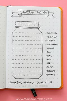Track your savings with this great bullet journal spread. The post is awesome too and explains why saving may not be the best solution to your money issues! Awesome tips and advice!! You really should check it out!!