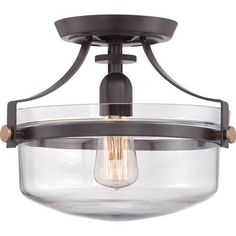 Buy the Quoizel Western Bronze Direct. Shop for the Quoizel Western Bronze Uptown Penn Station 1 Light Semi-Flush Ceiling Fixture and save. Quoizel Lighting, Semi Flush Lighting, Semi Flush Ceiling Lights, Flush Mount Ceiling, Lighting For Low Ceilings, Rustic Flush Mount Lighting, Hallway Lighting, Home Lighting, Lighting Ideas