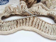 Chytový vzor: Návod na pletení vzoru brioche v kruhových řadách - knit ...