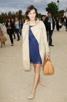 Alexa Chung in Paris Fashion Week Spring/Summer 2011 -  Chloe Show Arrivals