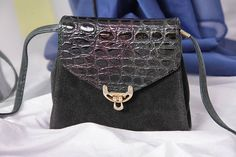 small green leather purse crossbody black suede shoulder
