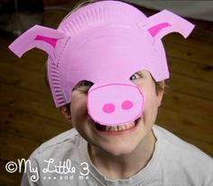 Make A Paper Plate Pig Mask - My Little 3 and Me