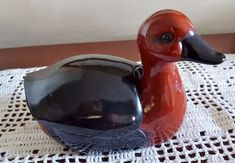 Rare Vintage Fitz & Floyd Ceramic Vernissage Duck Hand Painted Japan 1960-1970