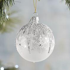 European Glass Snowflake & Frost Ornament | Pier 1 Imports