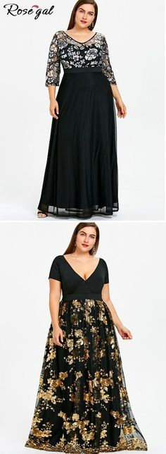 f9b7d12524b Free shipping worldwide.Plus Size Floral Sequined Maxi Prom Dress.  maxi  dresses