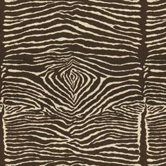 BR-79168 - 08  LE ZEBRE LINEN PRINT - CHARCOAL BROWN AND WHITE