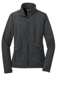 Womens EDDIE BAUER Shaded Crosshatch Soft Shell Fleece Lined Waterproof Jacket L #EddieBauer #Casual #LuxeCella