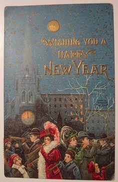 Vintage New Years Postcard by riptheskull, via Flickr