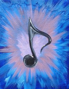 The Blues Painted Music Note by MargieButterfly on Etsy, $10.00 How its made: http://www.youtube.com/watch?v=6pQgShUK0T4