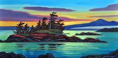 West Coast Evening by Nicholas Bott Canadian Art, Art Painting, Painting Inspiration, Painting, Watercolor Landscape Paintings, Art, Cool Paintings, Canvas Painting, Landscape Art
