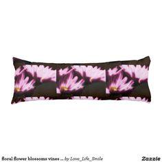 floral flower blossoms vines petals plant bloom body pillow