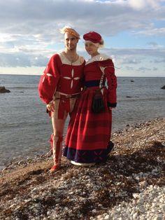 Benjamin and Sophia as Landsknechts / Reisläufer, Visby 2012