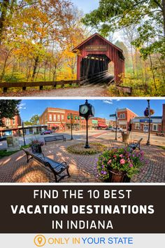 If you're looking for a fantastic local staycation in Indiana, check out the best vacation spots on this list. You'll find a charming Christmas-themed town, the Indianapolis Speedway, Marengo Cave, Nashville, and more. All make for great family day trips or weekend getaways. Midwest Vacations, Best Vacation Destinations, Best Vacation Spots, Need A Vacation, Best Vacations, Vacation Trips, Day Trips, Vacation Ideas, Geisha Japan