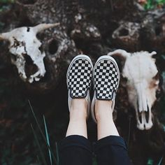 Get lost in the Checkerboard Slip-On.