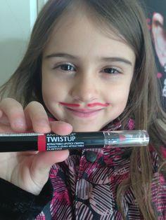 Pretty in red :) with Twistup Retractable lipstick in Flirtini Movember, Moustache, Lipstick, Cosmetics, Pretty, Red, Beauty, November Month, Lipsticks