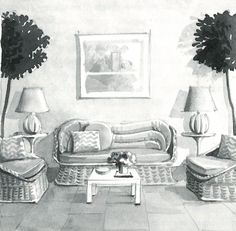 mark hampton watercolors of great rooms  http://markdsikes.com/2012/09/02/mark-hampton-paints/