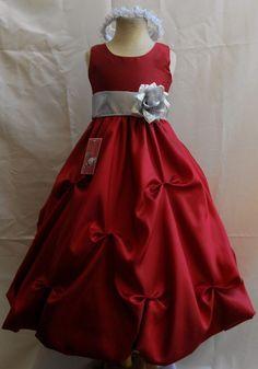Royal Blue and Silver Organza Flower Girl Dress | Tidbits of ...
