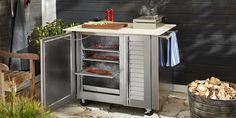 The Kalamazoo competition-grade charcoal smoker cabinet