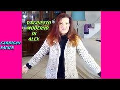 (2) CARDIGAN ALL'UNCINETTO SUPER FACILE tutorial ogni taglia - YouTube
