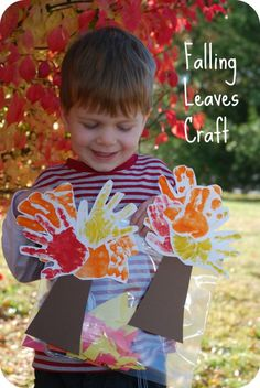 "Fun and INTERACTIVE Fall Craft!    Kids will love making the leaves ""fall"""