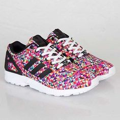 New adidas zx flux multi coloured #photo #print #fashion sneakers trainers m19845,  View more on the LINK: http://www.zeppy.io/product/gb/2/291805563909/