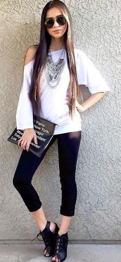 #summer #alyssa #outfits   Black And White
