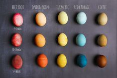 dyeing tutorials Eggs To Dye For! Weve been wanting to share an all-natural egg-dye tutorial with our members for years now but something always seems to get in the way either the ki Easter Egg Dye, Coloring Easter Eggs, Hoppy Easter, Natural Dyed Easter Eggs, Food Coloring Egg Dye, Diy Ostern, Egg Decorating, Decorating Easter Eggs, Shibori
