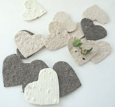 Plantable Seed Paper Confetti  - diy wedding favors, place cards, save the date cards, creative invitations | NatureFavo