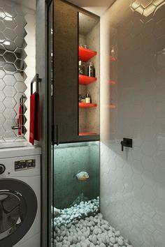 Home Designing — (via Laundry Room Aquarium)