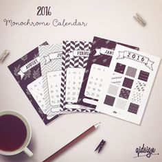 Hey, I found this really awesome Etsy listing at https://www.etsy.com/listing/258290845/printable-2016-monthly-calendar