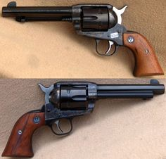 """The Ruger Vaquero in .45LC. The classic """"old west"""" design and single action is another sentimental favorite to have on the range or in the field. Lever action rifles can also be purchased in the same caliber. It's a great trainer for single-handed shooting."""