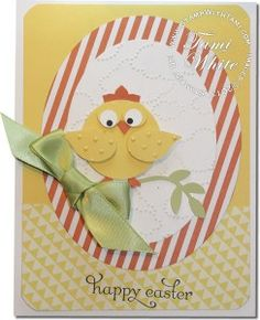Stamp' Up! ... handmade Easter card ...  Punch Art Chickie by Stampin Up Demonstrator - Tami White