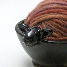 sheep yarn bowl <3