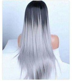 Her hair yay or nay? Dope Hairstyles, Unique Hairstyles, Pretty Hairstyles, Straight Hairstyles, Grey Hairstyle, Hairstyle Ideas, White Ombre Hair, Hair Color Purple, Grey Ombre