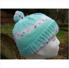Hand #knitted green multi pompom hat #handmade on #eBid United Kingdom