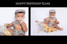 A baby eating a cake in a messy way. One Year Old Baby, Baby Eating, Eat Cake, Cute Babies, Crochet Hats, Cap, Kids, Knitting Hats, Baseball Hat