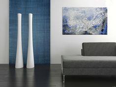 Tynk dekoracyjny Muricon w połączeniu z farbą Jeans Velatura, która wywołuje naturalne smugi, przetarcia oraz cienie. http://luxinteriors.com.pl/portfolio/muricon-jeans-velatura